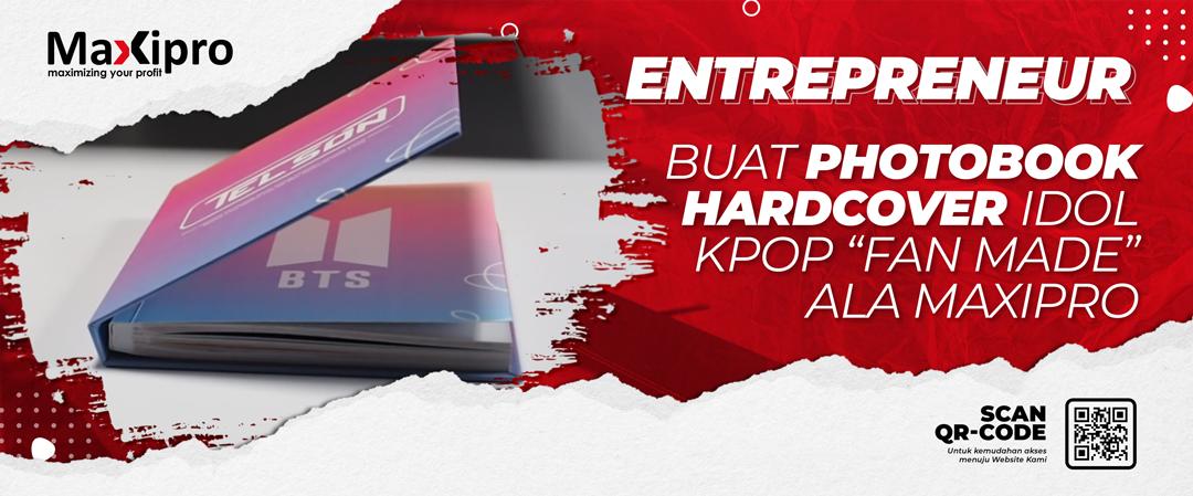 Buat Photobook HARDCOVER Idol Kpop Fan Made Ala Maxipro - Maxipro